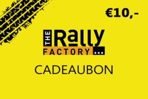 The Rally Factory 10 euro cadeaubon