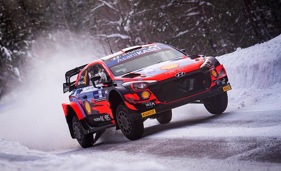 Tänak leider Arctic Rally Finland na dag 1