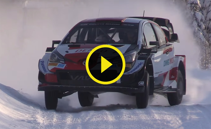 Evans test Arctic Rally Finland 2021