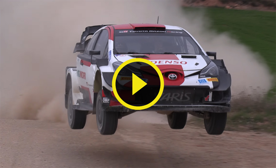 Ogier / Hänninen Toyota Yaris WRC test Spanje